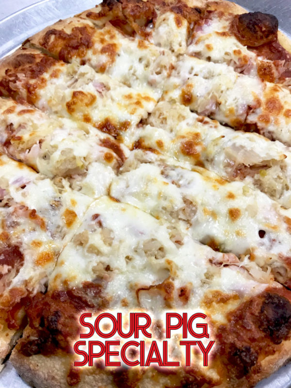 QC Pizza - Quad City Style - Sour Pig Specialty Pizza - Order Call (651) 777-1200