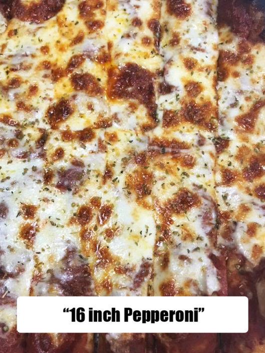 QC Pizza 16 inch pepperoni pizza