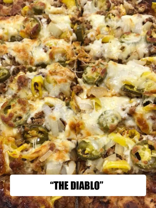 QC Pizza - Quad City Style - Diablo Specialty Pizza - Call (651) 777-1200 to Order!
