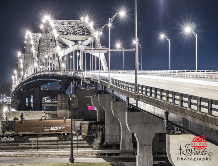 Centennial bridge Rock Island IL> to Davenport IA.