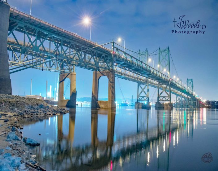 Cold Blue by Jerry Woods Photography | I74 Bridge