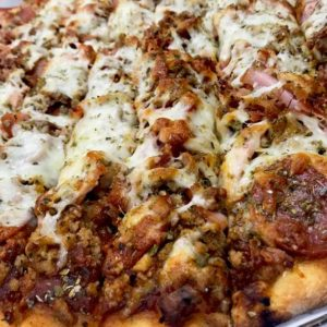 QC Pizza Mahtomedi MN - THE MEAT PIZZA