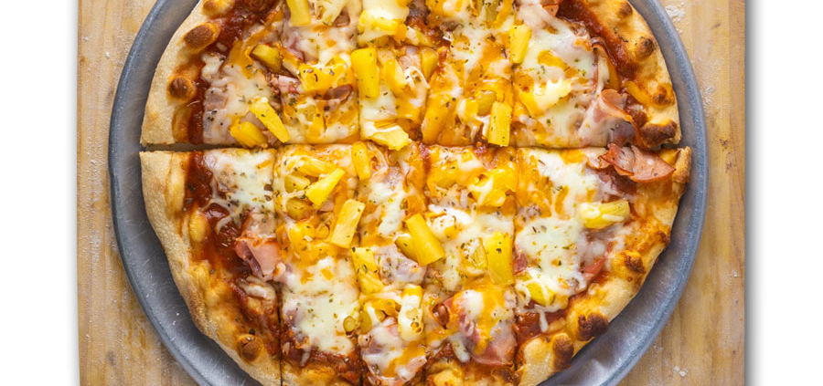 Hawaiian Pizza - QC Pizza - Quad City Style Pizza - Mahtomedi, MN