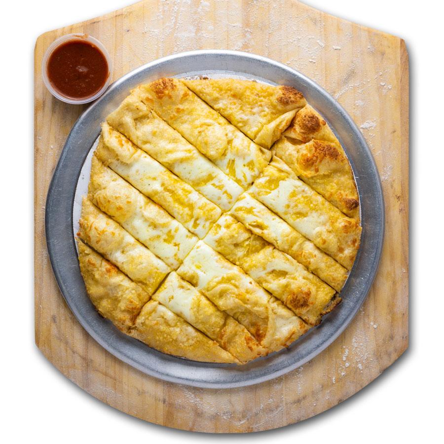 Yo-yo bread / pizza-fries - QC Pizza - Quad City Style Pizza - Mahtomedi, MN