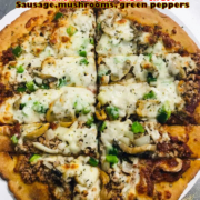 Cauliflower Crust - Sausage, Mushrooms, and Green Peppers Pizza - Quad City Style Pizza - Mahtomedi, MN (651) 777-1200