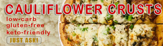 QC Pizza keto friendly cauliflower crusts now available!