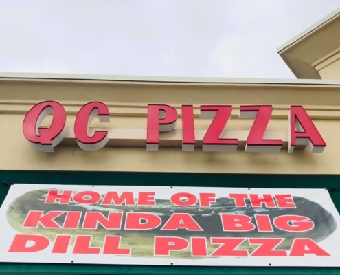 Welcome to QC Pizza MN. home of the Kinda Big Dill Pizza