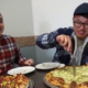 Eighty First Ave: Fresh Finds - Damian Young & Vayoung visiting QC Pizza trying our Big Dill Pizza