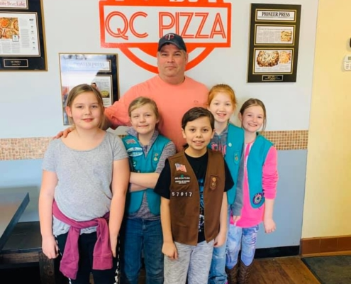 Thank you Girl Scouts for being KIND OF A BIG DILLs with me- QC Pizza - Mahtomedi MN.