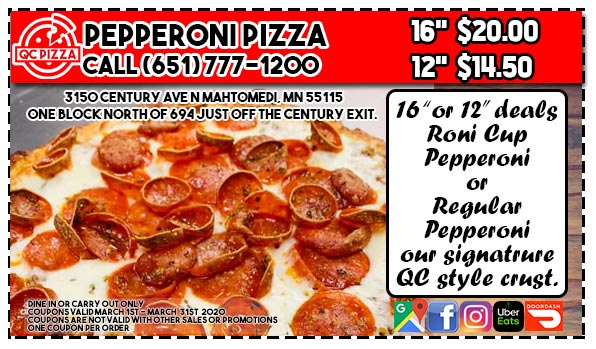 March Pepperoni Special