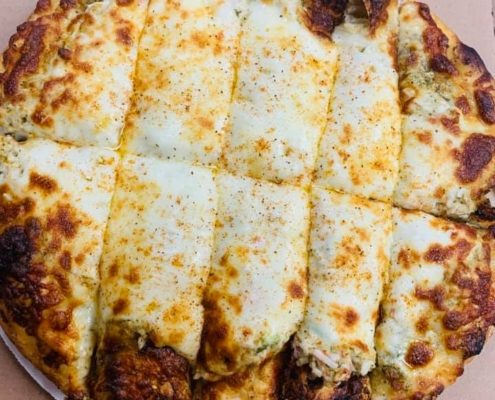 Lobster Roll Pizza - QC Pizza MN - Made with real lobster meat!