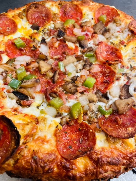 QC Frozen Pizza -Take-n-Bake Sausage Deluxe Pizza