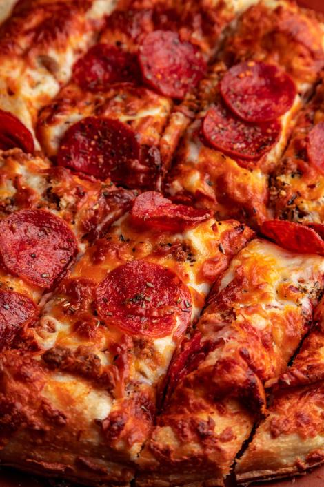 QC Frozen Pizza -Take-n-Bake Sausage Pepperoni Pizza