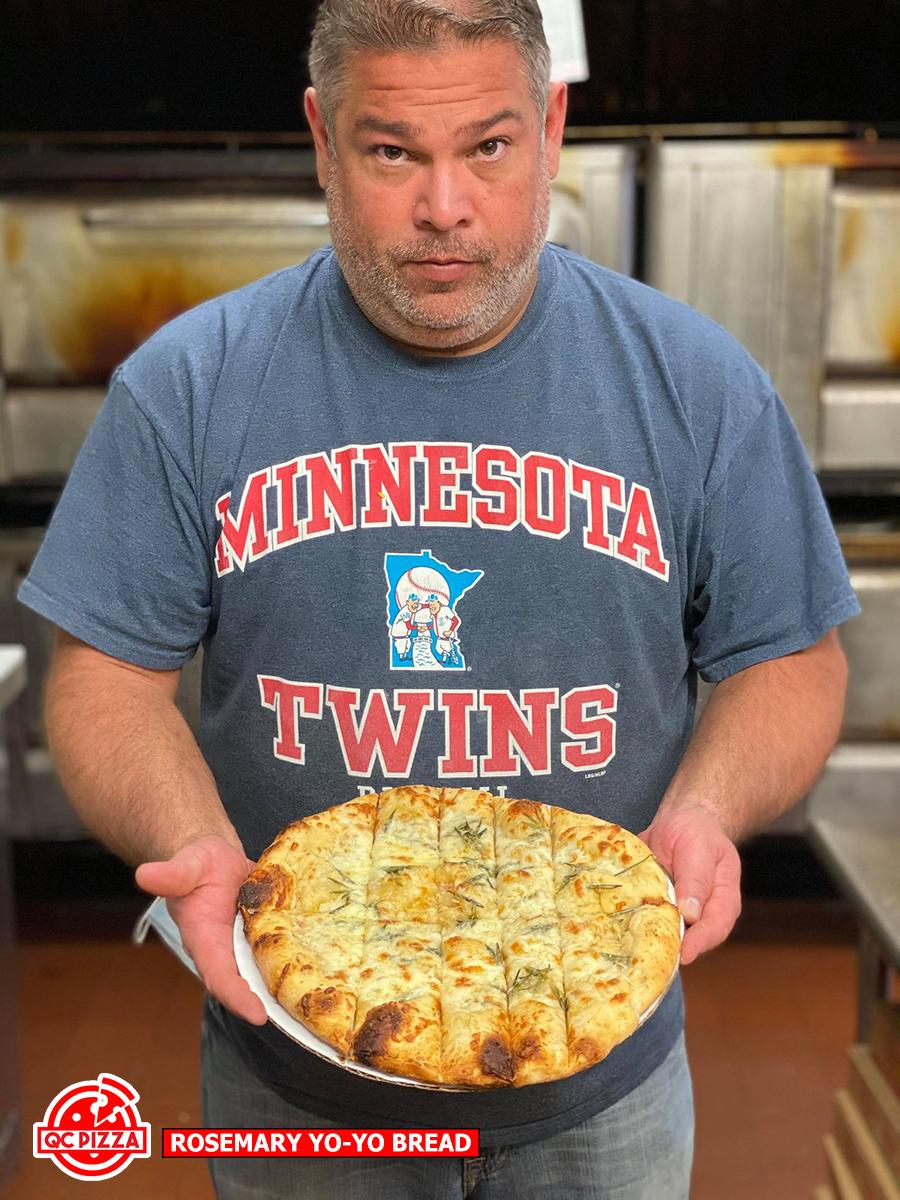 QC Pizza - Rosemary Yo-Yo Bread - Dennis Schneekloth Chef/Owner