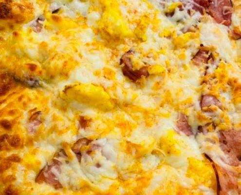 Eggs Benedict QC Frozen Pizza