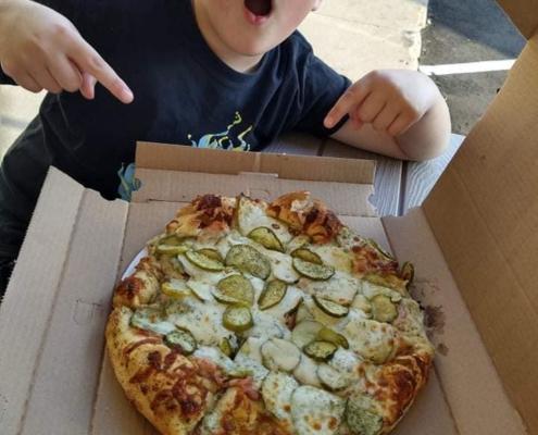 """QC Pizza """"Kinda Big Dill"""" Pizza - Mahtomedi & Minneapolis MN."""